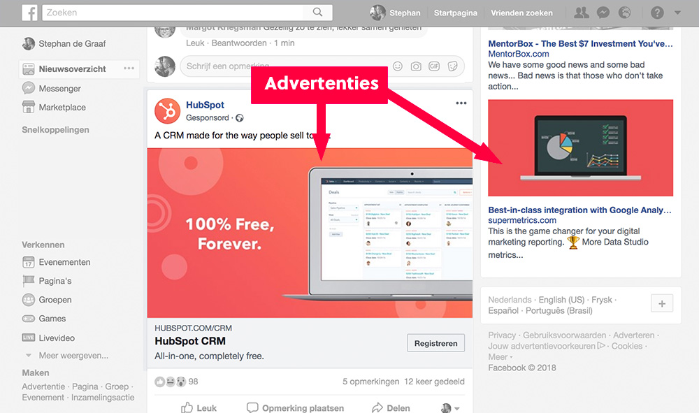 facebook advertenties